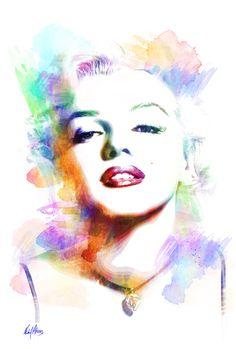 Marilyn Monroe by Michael Akers #Art #Print