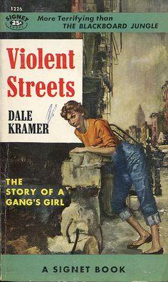 James Avati: Violent Street by Dale Kramer/ Signet 1226, 1955