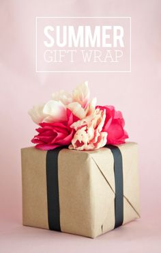 The Dollar Tree Gift Wrap (Boxwood Clippings) Creative Gift Wrapping, Creative Gifts, Fresh Flowers, Pink Flowers, Dollar Store Gifts, Friendship Flowers, Diy Gift Baskets, Package Deal, Diy Crafts For Gifts