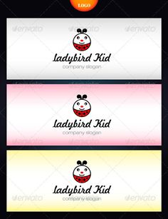 Ladybird Kid  #GraphicRiver         The Pack included:   Ai, EPS   CMYK  …