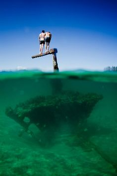 The Wreck, Byron Bay. Always reminds me of the people who had to stand on it when a shark tried to attack them. Christmas Travel, Beach Holiday, Byron Bay, Adventure Is Out There, Australia Travel, Gold Coast, Under The Sea, Vacation Spots, Places To See