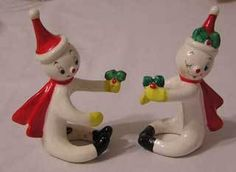 Vintage Christmas Commodore Candle Huggers Climbing Pixies