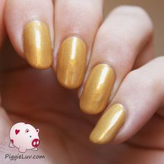 Gothic Gala Lacquers - Sassy Citrine, from the Burlesque Girls collection. A light mustardy gold color, Citrine honors her quarts namesake.