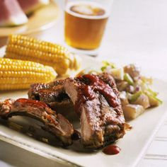 BBQ Baby Back Ribs For the quintessential barbecue experience, smoke pork loin back ribs over apple or hickory chips.