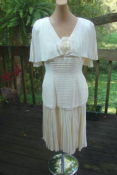Vintage Mignon Anne Marie Gabalis NY Ivory Wedding Dress 10 | eBay
