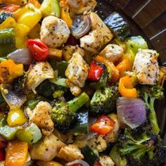 15 Minute Healthy Roasted Chicken and Veggies (One Pan) Recipe | Yummly