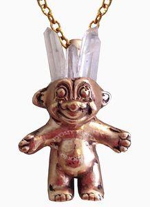 Quartz & Bronze Troll Necklace by Lo & Chlo