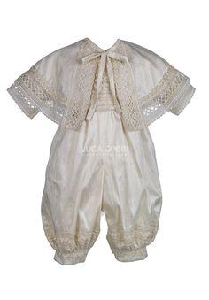 Modelo E27 - Ropón de Bautizo para Niño - Luca Gobbi Christening Gowns For Boys, Baby Boy Baptism Outfit, Baby Baptism, Baby Boy Outfits, Baptism Ideas, Dress Making, Kids Fashion, Clothes, Christening Decorations