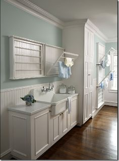 laundry room. These drying racks are awesome!!