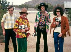 The Jimi Hendrix Experience in Arizone, 1968.