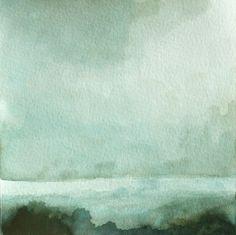 Watercolor Landscape No. 36 por kaitlincarroll en Etsy