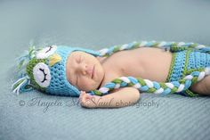 Crochet Baby Hat and Diaper Cover Set Blue by SimplySoftBabyLoft, $31.99