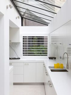 Skylight And Light Well With Led Strips Hidden Along The