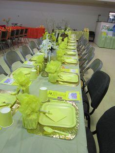 yellow table