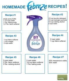 "'Make Homemade ""Febreze"": 7 Different Recipes...!' (via Curbly)"