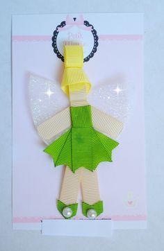 Presilha princesas - Sininho - versão LUXO!! <br>Muito mais ricas em detalhes e material diferenciado. <br>bico de pato importado