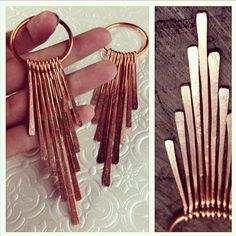 Hey, I found this really awesome Etsy listing at https://www.etsy.com/listing/206655971/copper-solar-flare-dangles-earrings-for