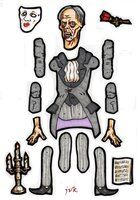 Phantom of The Opera jointed paper doll. by MadunTwoSwords