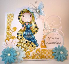 Let Your Hair Down by The Paper Nest Dolls, DT project for January, 2015, created by Leah Tees