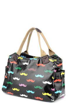 PVC Moustache Bag £12.99 Moustache, Gym Bag, Diaper Bag, Shop Now, Boutique, Bags, Accessories, Shopping, Fashion