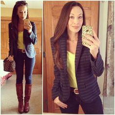 Blazer & boots - #targetstyle - #skinnies, shirt and #striped blazer, #fryeboots, #louisvuitton #speedy25b #2014closetremixchallenge #ootd #springstyle #wiwt #fashion #fashionista #instalook #instagood #whatiwore #lookoftheday #instafashion #instastyle #igfashion #igstyle #mystyle #instalook #hapa #followme #stylediaries #fashiondiaries