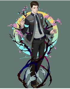 Detroit become human Connor By: LY 炼妖 <<that is some amazing art Fanart, Luther, Detroit Become Human Game, Detroit Game, Quantic Dream, Becoming Human, I Like Dogs, Human Art, Human Human