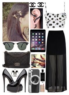 """FORMAL PLUS CASUAL"" by zara1515 ❤ liked on Polyvore featuring Mela Loves London, Chanel, PhunkeeTree, Ray-Ban, Casetify, Agonist and Charlotte Tilbury"
