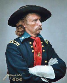 George Armstrong Custer - May 1865 December 1839 – June 1876 American Uniform, American War, American History, George Custer, John Basilone, Dakota Do Sul, Colorized History, Battle Of Little Bighorn, George Armstrong