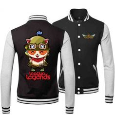 League of legends sweatshirt for men plus size teemo baseball jacket XXXL