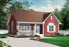 Bungalow Country Traditional Elevation of Plan 76182