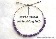 how to sliding knot