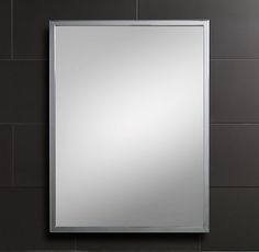 Classic Wall Mirror from RH Another option for Bath Mirrors