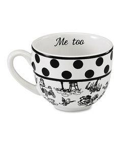 Love this Black & White 'Me Too' Mug on #zulily! #zulilyfinds