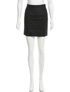Virgin Wool Mini Skirt