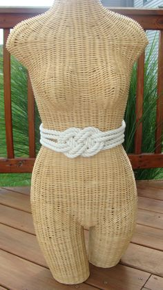 Cotton Rope Nautical Knot Belt with Sliding Clasp