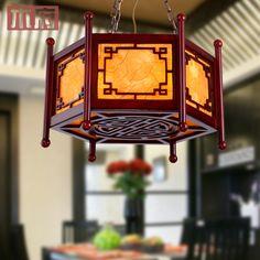 antika oyma ahşap avize aydınlatma klasik çince fenerler restoran çalışma salonu ışıkları lambası balkon restoran(China (Mainland))