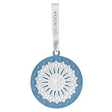 Wedgwood® Neoclassical Disc Christmas Ornament in Blue/White