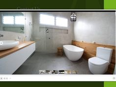 This space by Ideal Bathrooms and Plumbing combines cool concrete with warm… Bathroom Inspo, Bathroom Inspiration, Master Bathroom, Ideal Bathrooms, Beautiful Bathrooms, Reece Bathroom, Wooden Panelling, Bathroom Gallery, Bathroom Renovations