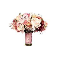 6 Breathtaking Bridal Bouquets! (Plus, The EXACT Flowers All of 'Em... ❤ liked on Polyvore featuring flowers