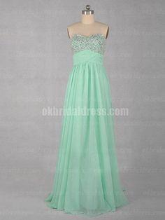 cheap green long sweet heart bridmaid dress   Cheap prom dresses Sale