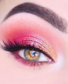 Make the Difference with 60 Best Eye Makeup Ideas! – Page 33 of 59 Make-up; Augen Make-up; Make-up Tutorial; Make-up Aussehen; Augen Make-up Tutorial; Make-up Ideen Schritt für Schritt; Pink Eye Makeup Looks, Colorful Eye Makeup, Eye Makeup Tips, Cute Makeup, Eyeshadow Makeup, Beauty Makeup, Makeup Ideas, Summer Eye Makeup, Cream Eyeshadow