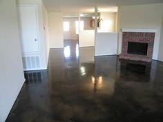 dark gray epoxy concrete floor - Google Search