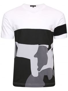Comme Des Garcons Homme Plus Abstract Graphic Print T-Shirt White