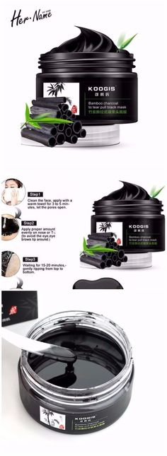 ACTIVATED CHARCOAL FACE MASK PEEL-BLACKHEAD REMOVER-SKIN ACNE BENEFITS-DEEP CLEANSING-PORE MINIMIZER
