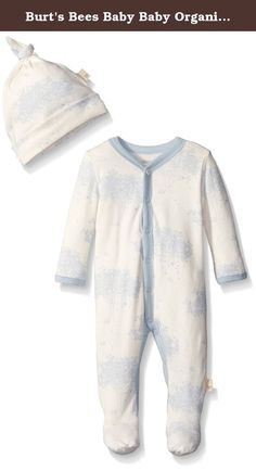 Burt's Bees Baby Baby Organic Toile Snap Front Coverall and Hat Set, Sail Blue, 6-9 Months. This comfy coverall is perfect for an adventurous day! the toile print and footed feature make it easy to crawl comfortably in style. Throw on the matching knot top hat for a head to toe look.