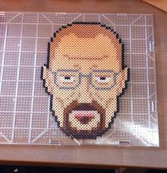 Breaking Bad - Heisenberg / Walter White perler bead portrait by Mikasa Ackerman
