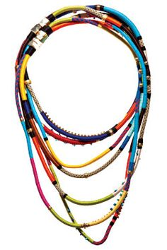 Holst + Lee's Brooklyn-made, thread-wrapped necklaces.