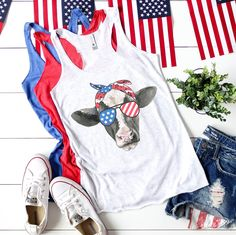 About Patriotic USA Cow Tanktop This tank top is Made To Order, we print one by one so we can control the quality. We use DTG Technology to print Patriotic USA Cow Tanktop Fourth Of July Shirts, 4th Of July Outfits, July 4th, Patriotic Shirts, Summer Outfits, Winter Season Months, The Birth Of Christ, Me Time, Racerback Tank