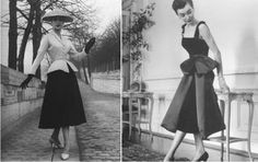 02. Silhueta ou Shape.  Primeiro impacto, volume, amplitude.  New Look, Dior, 1947