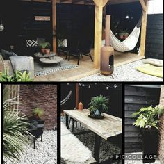 If You Don't Have Enough Yard Space, Create A Container Garden - Container Gardening Diy Outdoor Kitchen, Outdoor Rooms, Outdoor Living, Outdoor Decor, Small Gardens, Outdoor Gardens, Love Garden, Home And Garden, Garden Sitting Areas